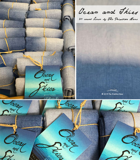 Ocean and Skies fabric by The Primitive Hare