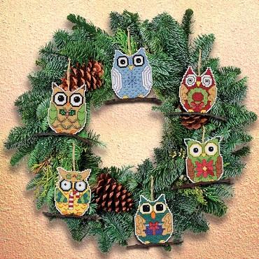 Owls ornaments by Janlynn