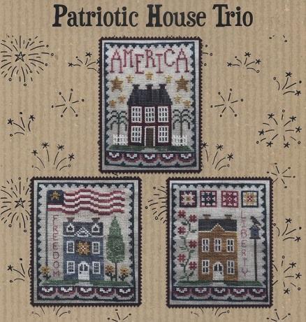 Waxing Moon Designs Patriotic house trio