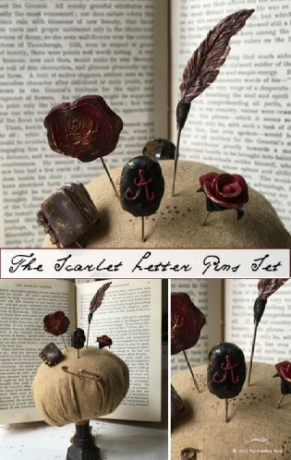 The Scarlet letter pins by The Primitive Hare