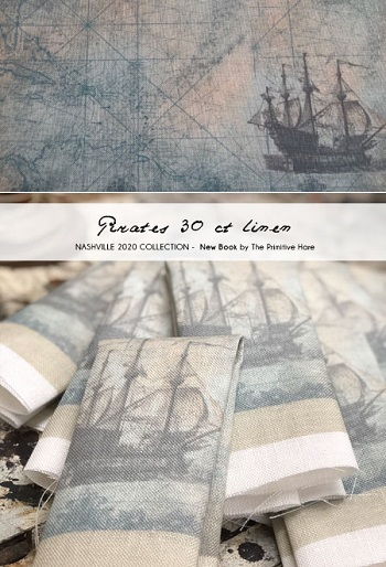 Pirates fabric 30ct by The Primitive Hare