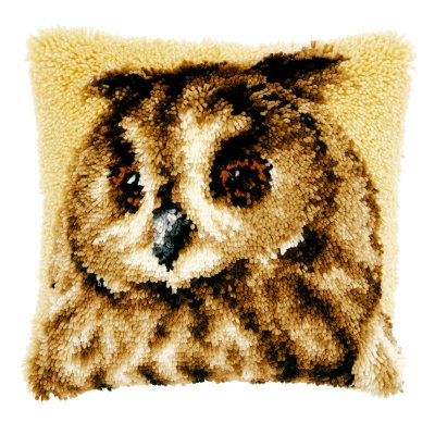 Brown Owl Pillow,PNV21650,Vervaco