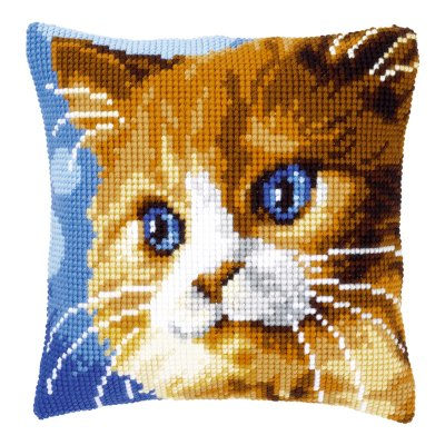 Vervaco Brown cat pillow,PNV149441