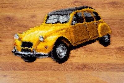 Vintage Yellow Car Rug by Vervaco