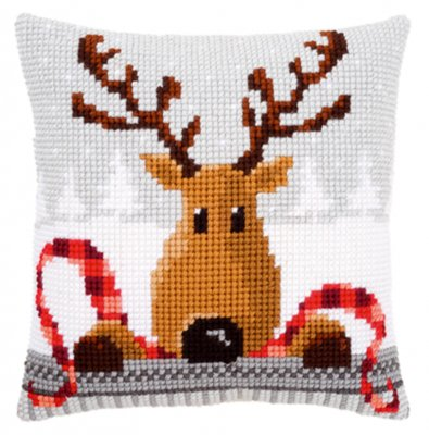Reindeer with red scarf,PNV148051,Vervaco