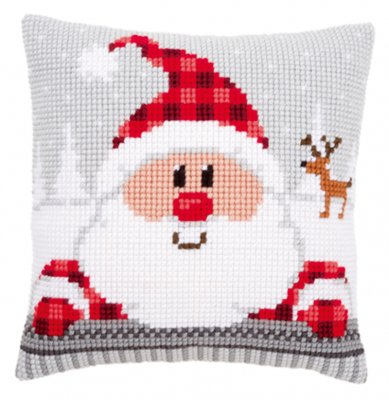 Santa in plaid hat,PNV148061,Vervaco