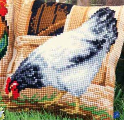 Vervaco PNV 148109 Grey hen cushion