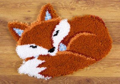 Sleeping Fox Latch Hook Rug by Vervaco