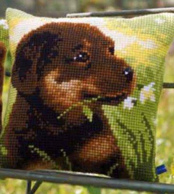 Vervaco PNV148689 Rottweiler Puppy Cushion