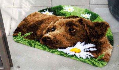 Chocolate Labrador Rug by Vervaco