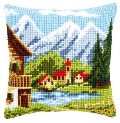Alpine village pillow,PNV9079,Vervaco