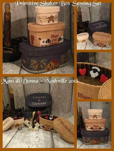Mani di Donna Shaker Sewing Box  MDD-SSB