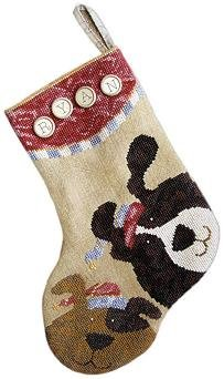 Puppy stocking by Samsarah Design Studio