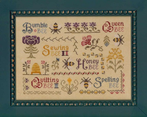Elizabeth's Designs Needlework Antique Bee Sampler