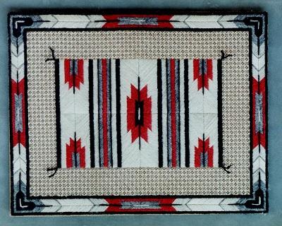 Red arrow blanket by Laura J Perin Designs