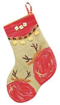 Reindeer stocking by Samsarah Design Studio