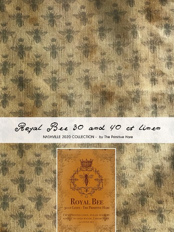 The Primitive Hare Royal Bee Linen 30 ct