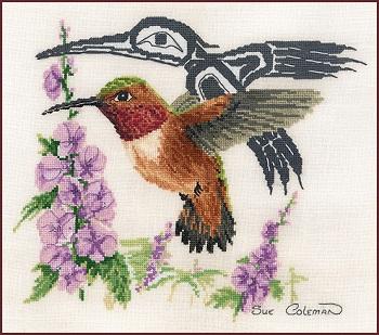 Stitching Studio Rufus hummingbird