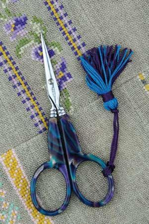 Blue ONYX style scissors by Sajou