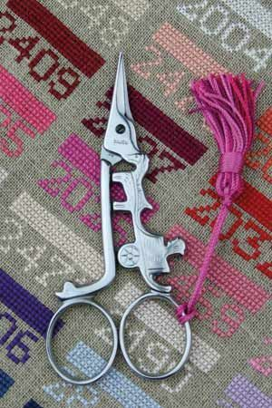 Cart embroidery scissors by Sajou