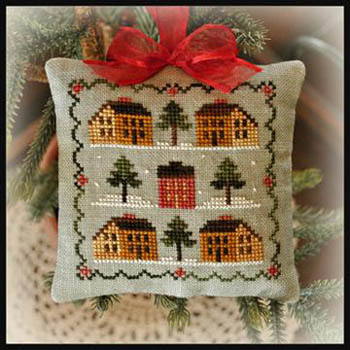 Saltbox village by Little House of Needleworks