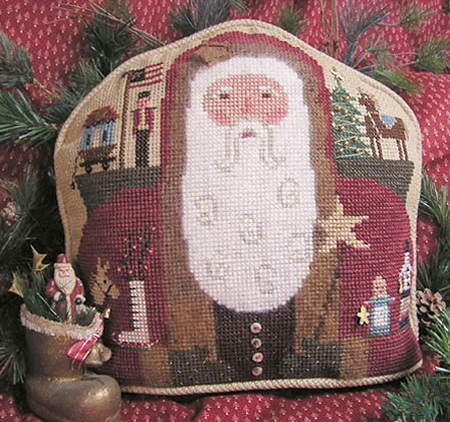 Homespun Elegance CINNAMON STICK SANTA  Santa & His Toys