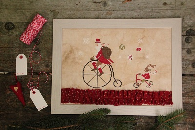 Santa On The Bike by Madame Chantilly
