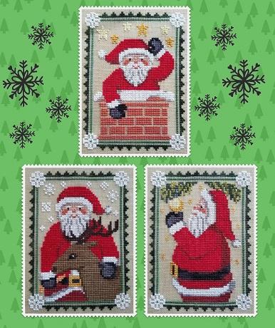 Waxing Moon Designs Santa Trio