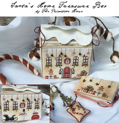 Santa's Home treasure box by The Primitive Hare