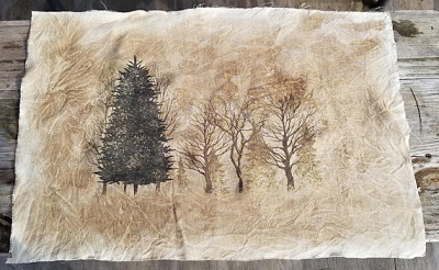 Sepia Forest trees,40ct,18x27by Kanikis
