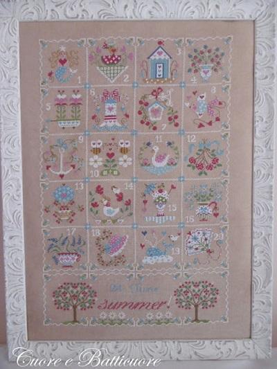 Shabby summer calendar by Cuore e Batticuore