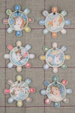 Six thread cards Barfleur model Art Nouveau style by Sajou