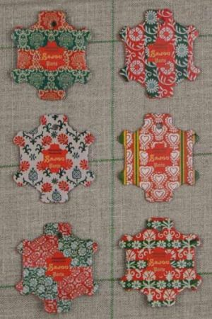 Six thread cards Bayeux model Vintage wallpapers by Sajou