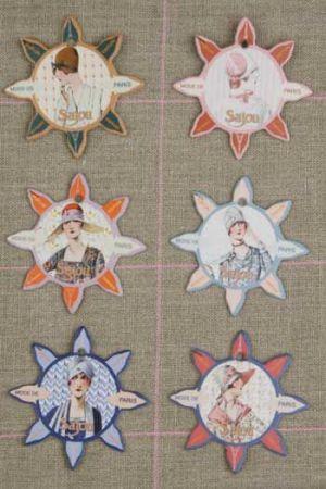 Six thread cards Deauville model Mode de Paris by Sajou