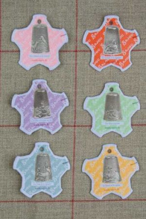 Six thread cards Dieppe model Silver thimbles by Sajou