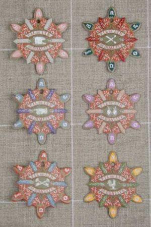 Six thread cards Dives model vintage cards by Sajou