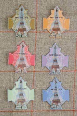 Six thread cards Paris model Eiffel Tower by Sajou