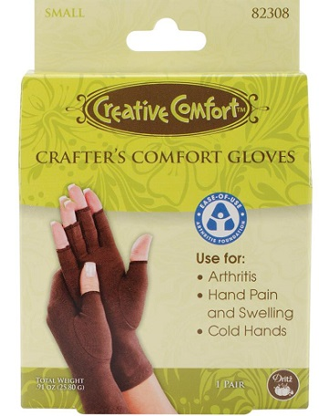 Creative Comfort Crafter's Comfort Gloves 1 Pair -SMALL-by Dritz