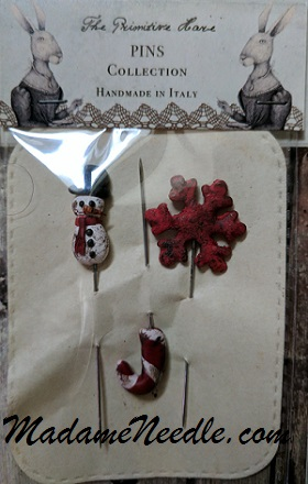 The Primitive Hare Snowman pins