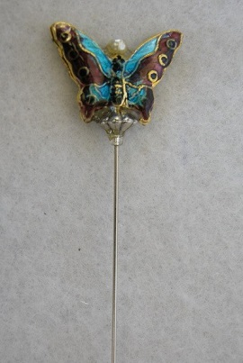 PIN TURQUOISE BUTTERFLY SP401D