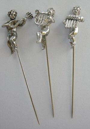 Three musicians pin set-SILVER