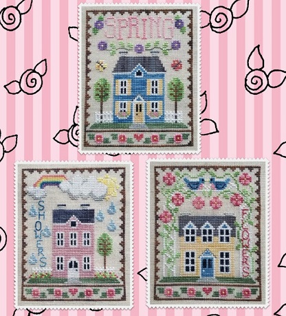 Waxing Moon Designs Spring house trio