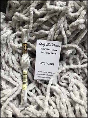 Sterling Cotton Chenille by Lady Dot Creates