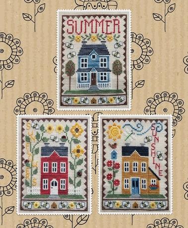 Waxing Moon Designs Summer house trio