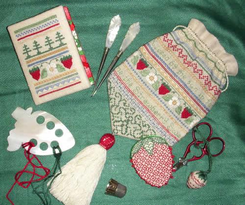 Carolina House Designs Sweet Strawberry Bag and Toys