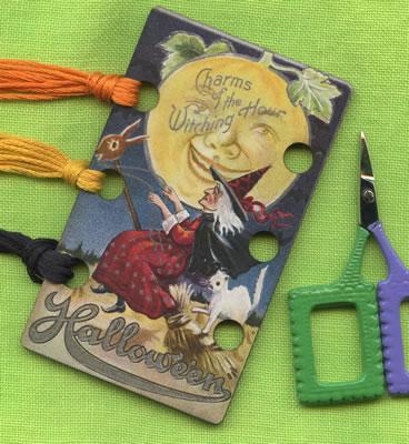 The Witching Hour Vintage Postcard Threadkeep by Kelmscott Designs