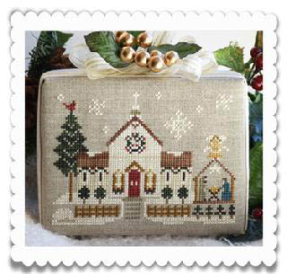 Hometown Holiday Town Church by Little House of Needleworks