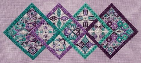 Threedles Needleart Design Pangea (Tranquil Seas version)-THREADS and BEADS pack