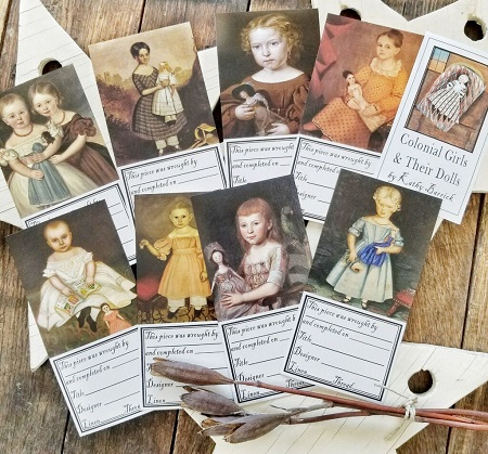 Kathy Barrick labels Colonial Girls & Their Dolls