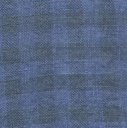 28CT OVERDYE GINGHAM LINEN NATURAL/BLUE JEANS